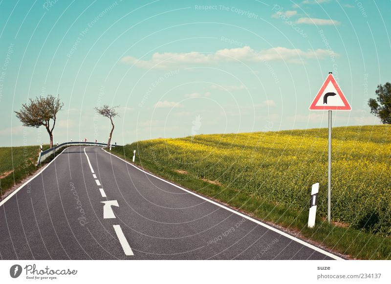 Sky Nature Summer Street Environment Landscape Lanes & trails Spring Signs and labeling Natural Climate Transport Dangerous Authentic Signage Target