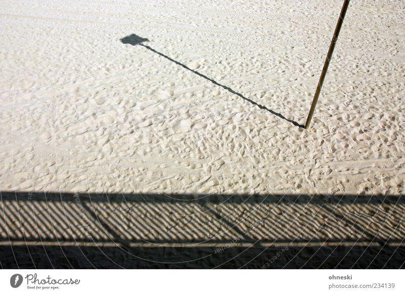 Summer Beach Loneliness Sand Signs and labeling Stripe Longing Handrail Lantern Footprint Pole Sandy beach