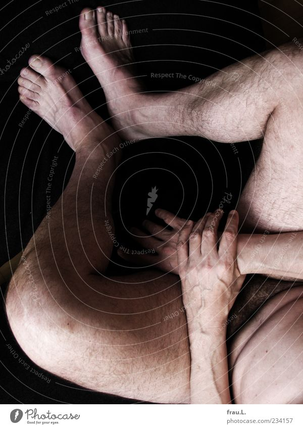 Human being Man Hand Calm Adults Naked Body Sit Masculine Hair Nude photography To hold on Serene 45 - 60 years Hide Male senior
