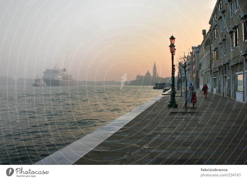 Venezia Town Port City Gray Romance italien venezia Italy Venice Drinking water venedig Subdued colour Exterior shot Morning Dawn Light Sunrise Sunset