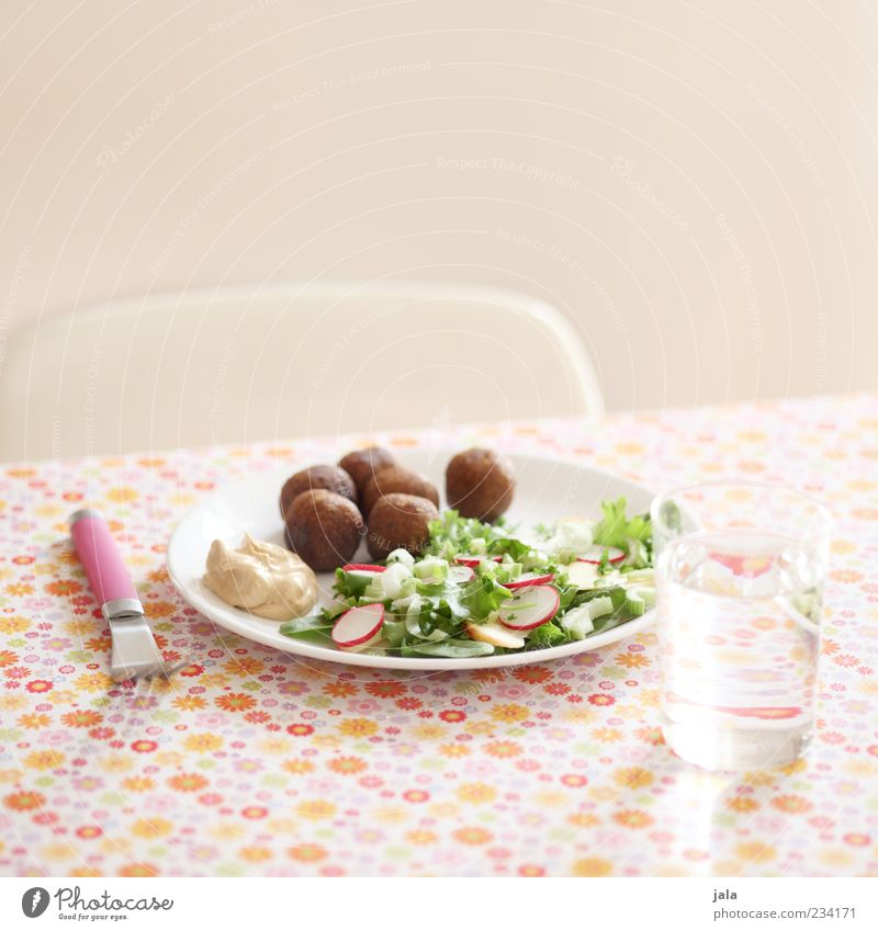Healthy Eating Food Food photograph Glass Drinking water Nutrition Beverage Delicious Organic produce Crockery Plate Lunch Tablecloth Lettuce Vegetarian diet