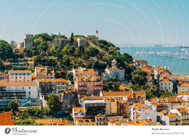 Panoramic View Of Sao Jorge Castle In Portugal Vacation & Travel Tourism Sightseeing City trip Expedition Summer House (Residential Structure) Architecture