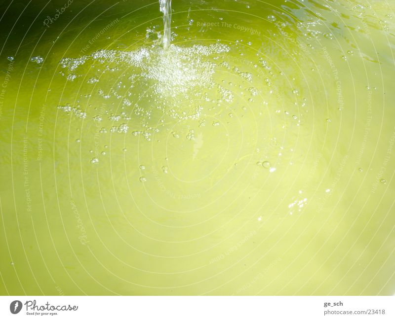 Water Green Yellow Movement Well Blow Mineral water