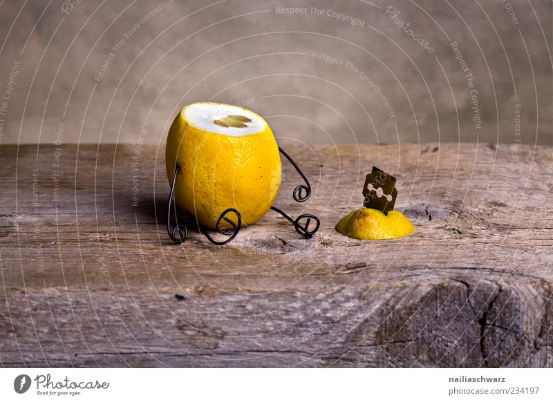 Yellow Death Nutrition Food Wood Sadness Metal Brown Fruit Sit Exceptional Creativity Creepy Idea Pain Whimsical