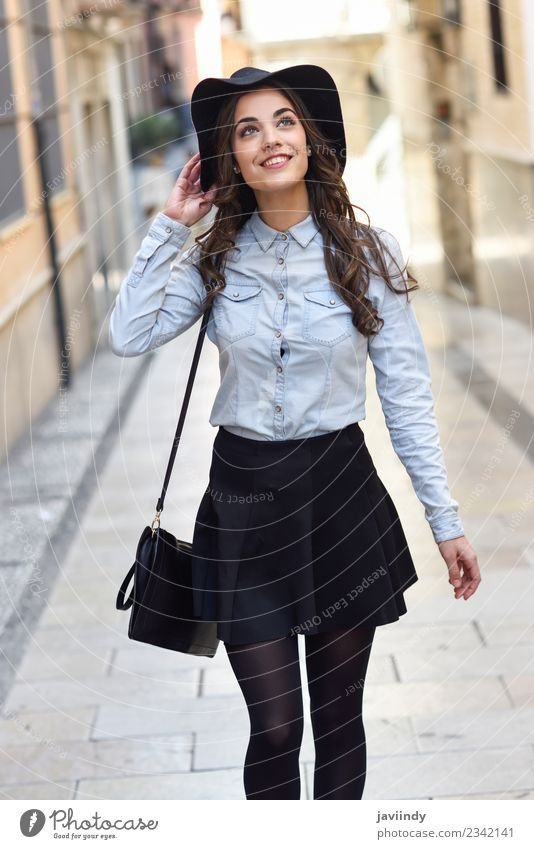young woman in urban background wearing casual clothes Lifestyle Elegant Style Beautiful Human being Feminine Young woman Youth (Young adults) Woman Adults 1