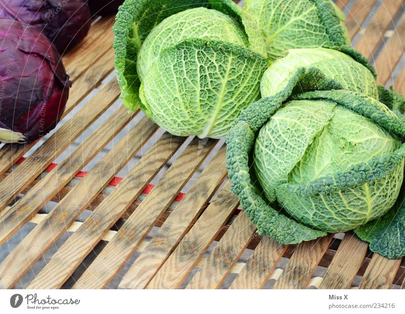 cabbage Food Vegetable Nutrition Organic produce Fresh Healthy Green Savoy cabbage Red cabbage Leaf Round Large Healthy Eating Vegetable market Farmer's market