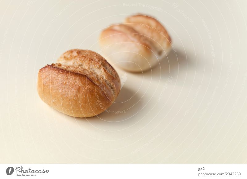 buns Food Roll Nutrition Eating Breakfast Diet Esthetic Simple Delicious Brown Modest Refrain Thrifty Colour photo Interior shot Studio shot Close-up Deserted