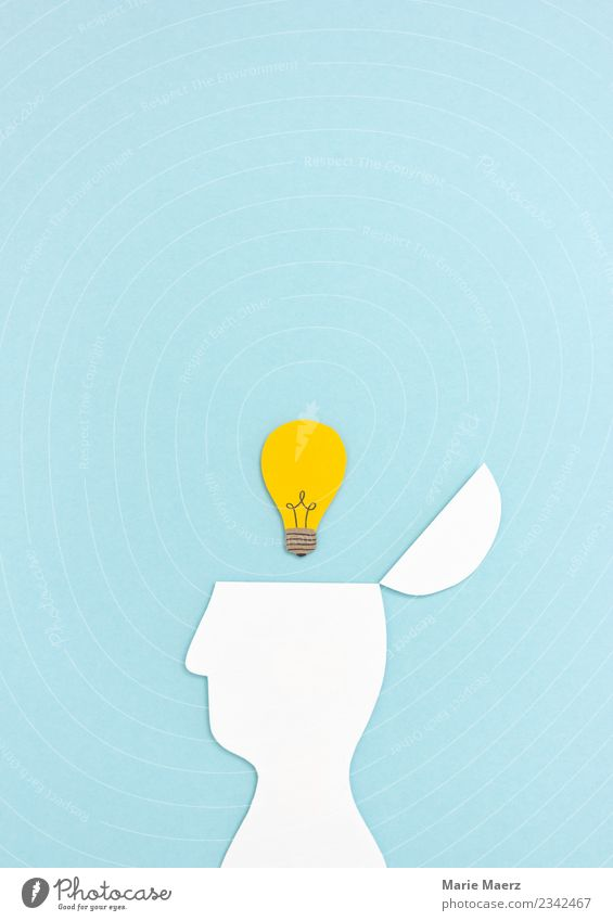 Blue Head Think Open Success Study Idea Simple Curiosity Discover New Education Adult Education Intellect Inspiration Electric bulb
