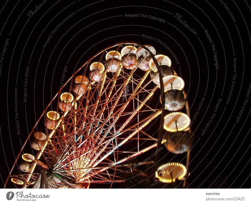Ferris wheel Fairs & Carnivals Night Culture Club Light light/dark