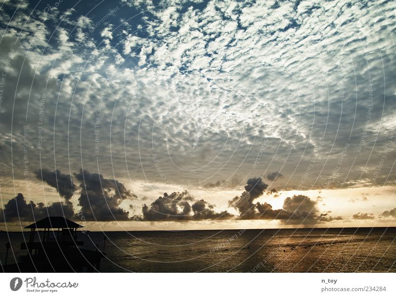 Sky Nature Water Sun Summer Ocean Beach Clouds Far-off places Relaxation Environment Landscape Freedom Coast Dream Horizon