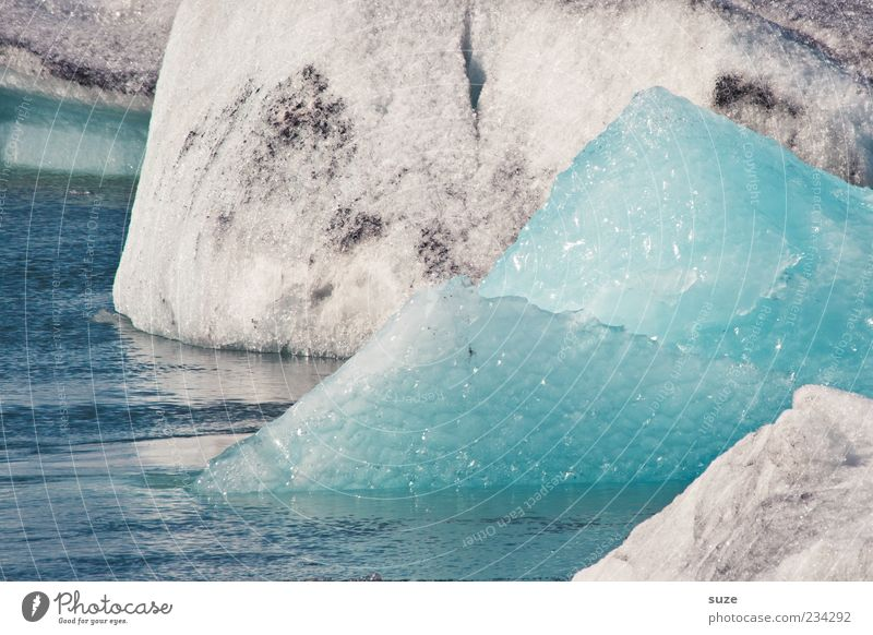 ice peak Environment Nature Elements Water Climate Ice Frost Sharp-edged Cold Natural Point Iceland Glacier ice Light blue Glacial melt Colour photo