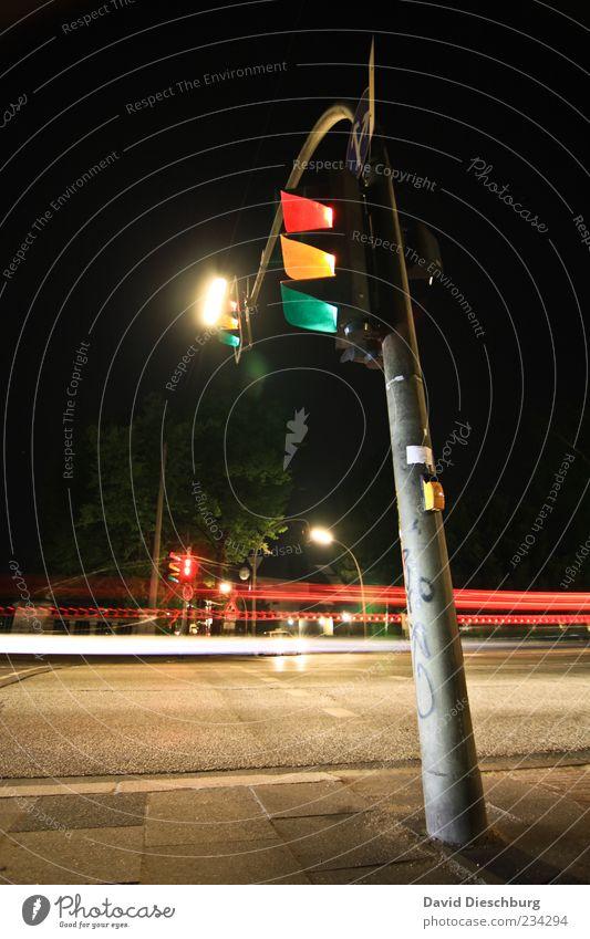 Green Red Black Yellow Street Lanes & trails Lamp Line Transport Illuminate Asphalt Lantern Sidewalk Traffic infrastructure Traffic light Haste