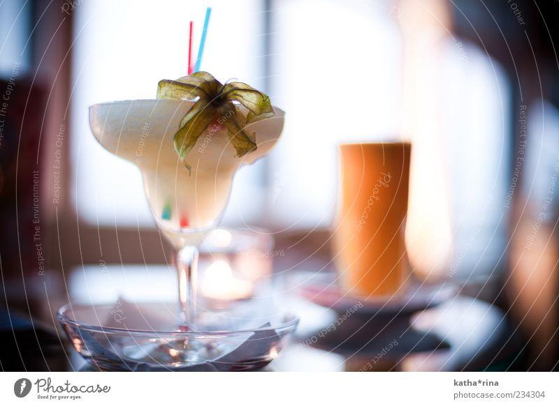 frozen pineapple margarita Beverage Alcoholic drinks Longdrink Cocktail Glass Elegant Style Summer Night life Bar Cocktail bar Exotic Hip & trendy Blue Yellow