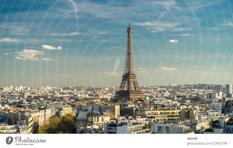 Vacation & Travel Town Tourist Attraction Landmark Capital city Monument Paris Eiffel Tower