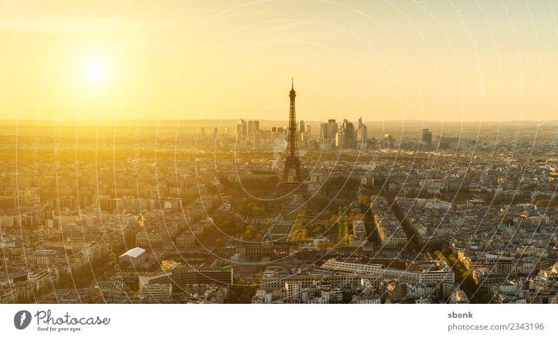Vacation & Travel Skyline Paris City Eiffel Tower