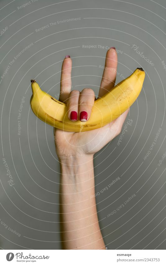 Banana rules Food Fruit Nutrition Organic produce Vegetarian diet Diet Lifestyle Healthy Health care Illness Wellness Hand Work and employment Authentic