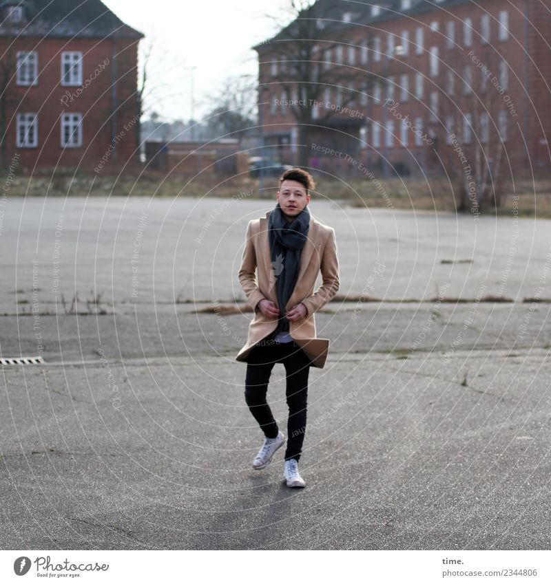 Sergei Masculine Man Adults 1 Human being House (Residential Structure) Places Coat Sneakers Brunette Short-haired Observe Going Looking Hip & trendy Athletic