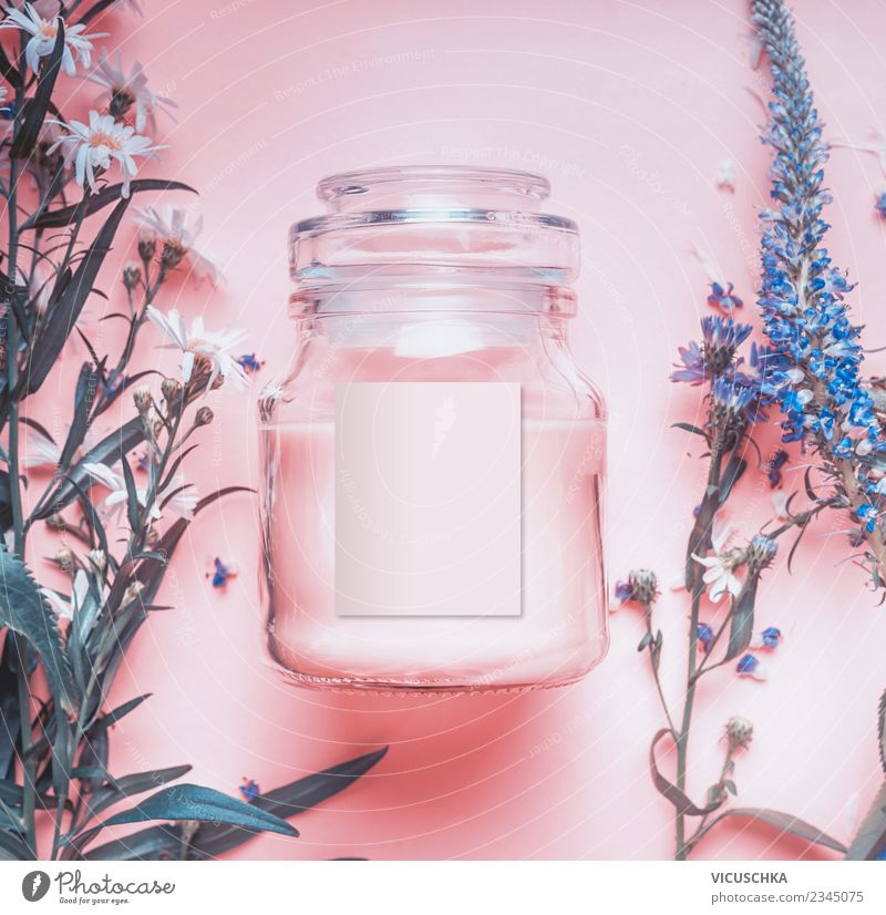 Nature Beautiful Flower Healthy Background picture Style Pink Design Glass Shopping Herbs and spices Cosmetics Cream Spa