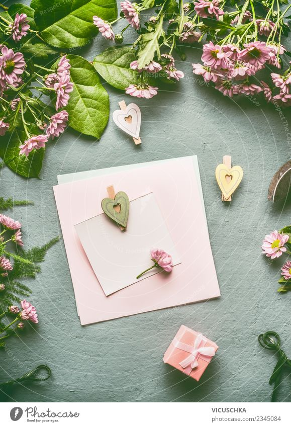 Summer Flower Leaf Joy Background picture Blossom Style Party Pink Design Living or residing Decoration Birthday Heart Empty Gift