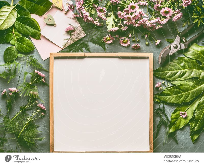 Green Flower Leaf Background picture Blossom Style Pink Design Living or residing Decoration Table Card Bouquet Hip & trendy Event Desk