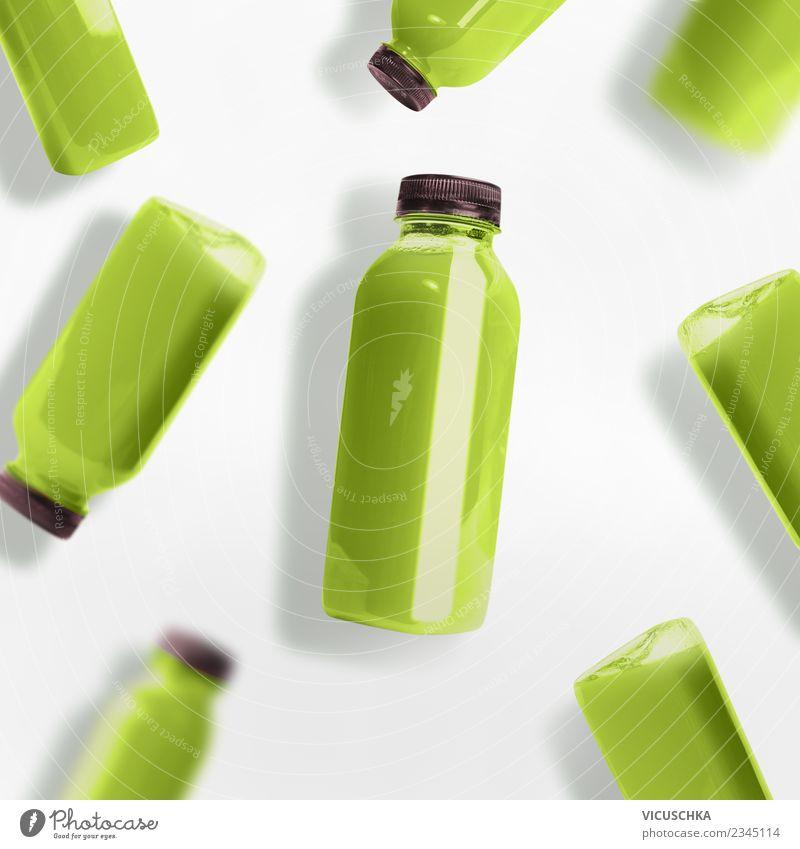 Summer Healthy Eating Green White Style Food Design Beverage Hip & trendy Organic produce Diet Bottle Vegetarian diet Vitamin Cold drink Juice