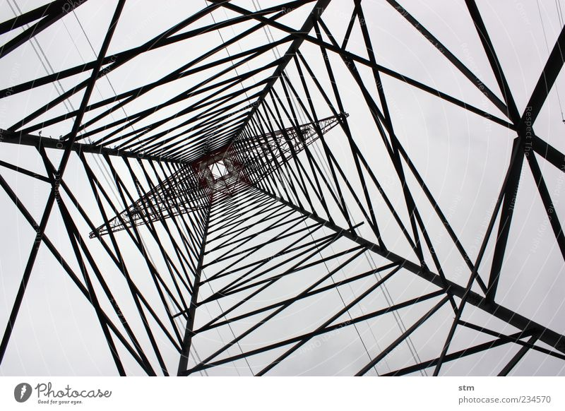 Power Energy industry Arrangement Tall Electricity Esthetic Network Industry Tower Technology Pure Manmade structures Steel Electricity pylon Tension