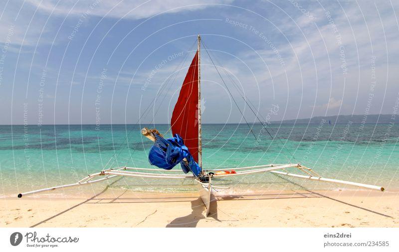 ...set the sails, and go! Far-off places Freedom Beach Ocean Aquatics Sailing Environment Nature Landscape Elements Sand Air Water Sky Clouds Horizon