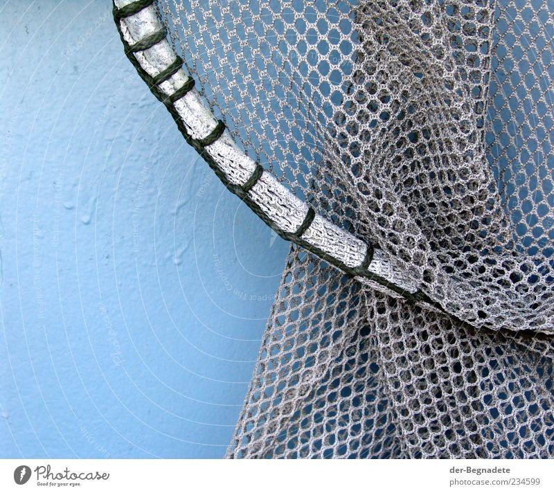 Blue Water Gray Circle Round Net To hold on Navigation Steel Hang Tool Nostalgia Knot Watercraft Loop Fishing boat
