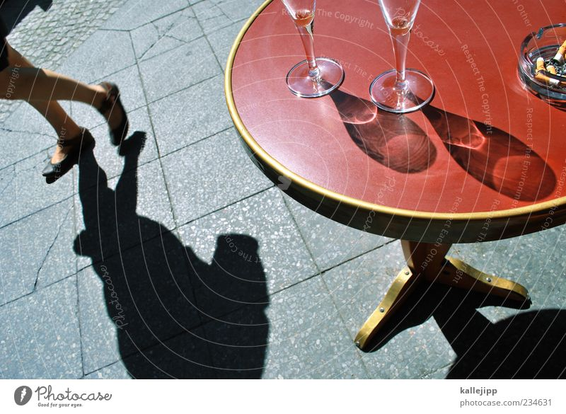 Human being Woman Adults Life Feminine Movement Style Going Glass Elegant Design Table Empty Beverage Lifestyle Drinking
