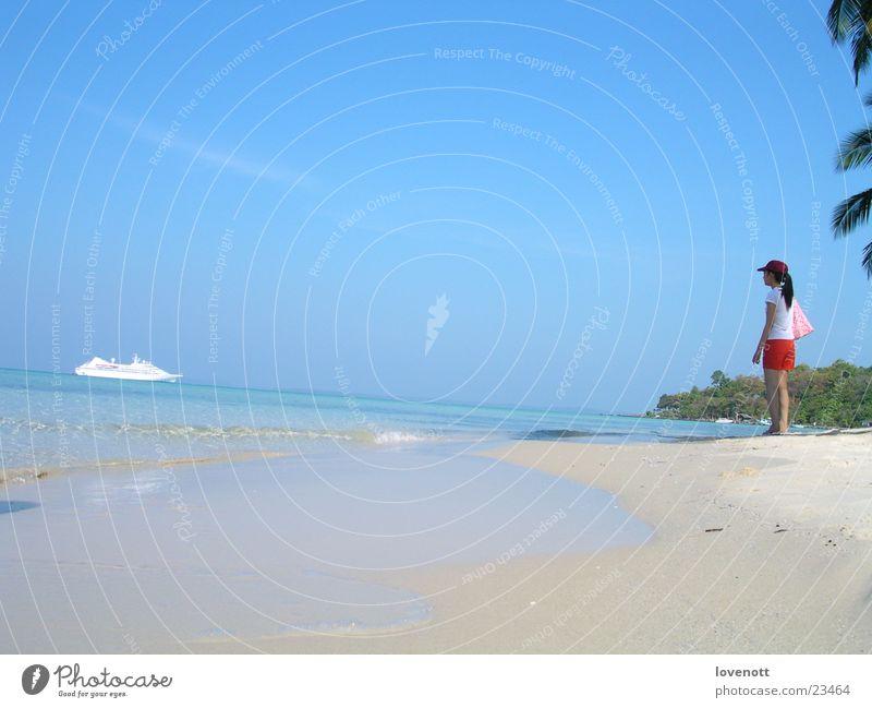Koh kood Laguna Sky Thailand Asia sea vacation boat aim blue