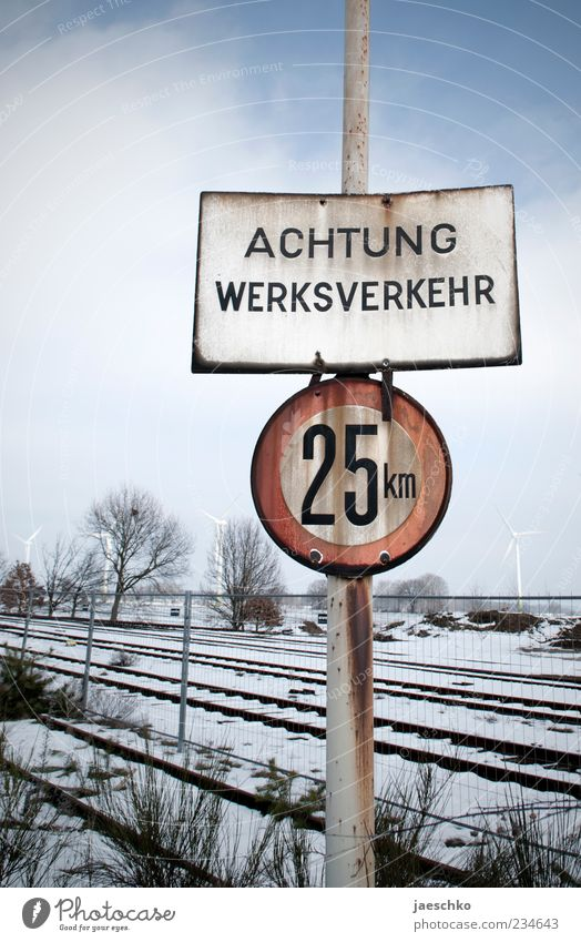 Cold Snow Ice Signs and labeling Transport Empty Characters Signage Gloomy Frost Industry Digits and numbers Transience Logistics Railroad tracks Decline