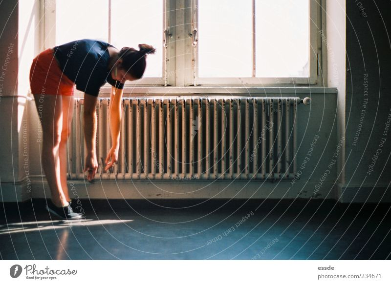 no water Yoga Feminine Window Heater To fall Hang Elegant Hip & trendy Dream Exhaustion Guilty Contentment Relaxation Whimsical Stagnating Colour photo