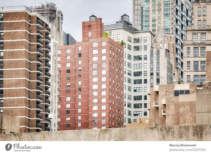 Manhattan architecture, New York City, USA. Town House (Residential Structure) Loneliness Architecture Wall (building) Building Wall (barrier) Facade