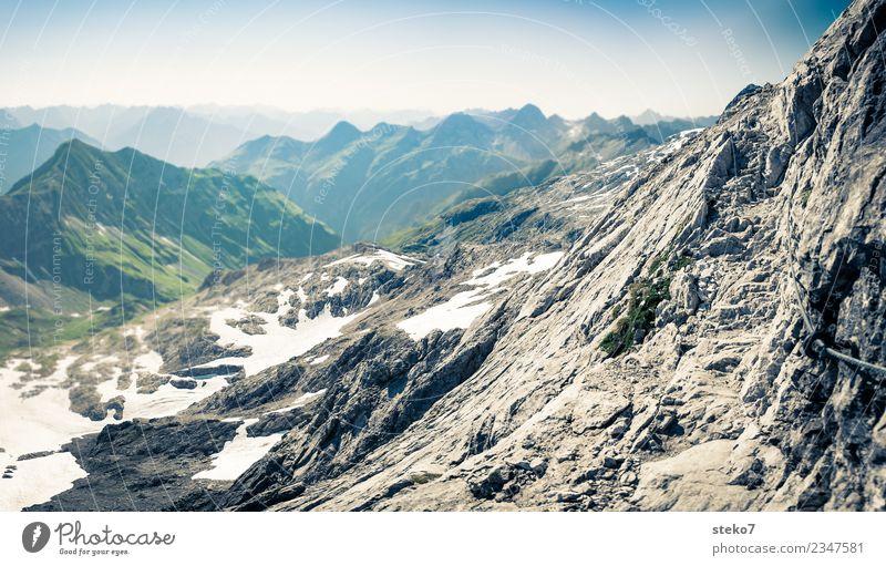 mountain footpath Rock Alps Peak Lanes & trails Hiking Loneliness Joie de vivre (Vitality) Vacation & Travel Far-off places Steep face Exterior shot Deserted