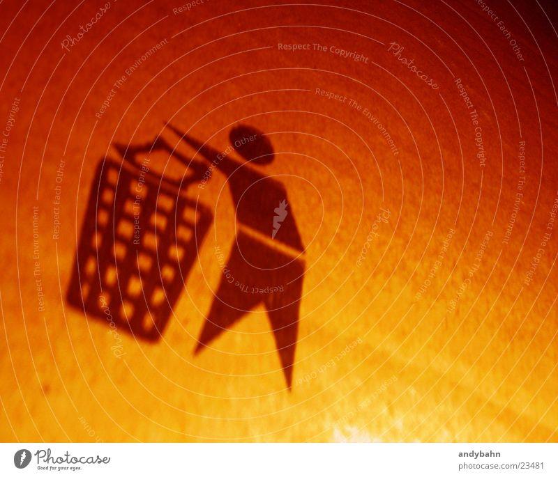 Yellow Orange Things Trash Symbols and metaphors Sign Cardboard Packaging Paper Icon Throw away