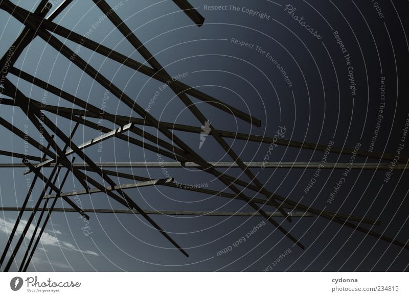Calm Style Line Together Metal Art Design Lifestyle Modern Network Uniqueness Exceptional Creativity Sculpture Idea