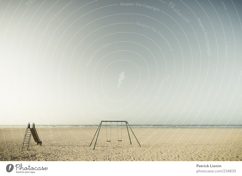 Spiekeroog | Playground at the beach Far-off places Freedom Beach Ocean Island Waves Environment Landscape Elements Air Weather Plant Coast North Sea Sand