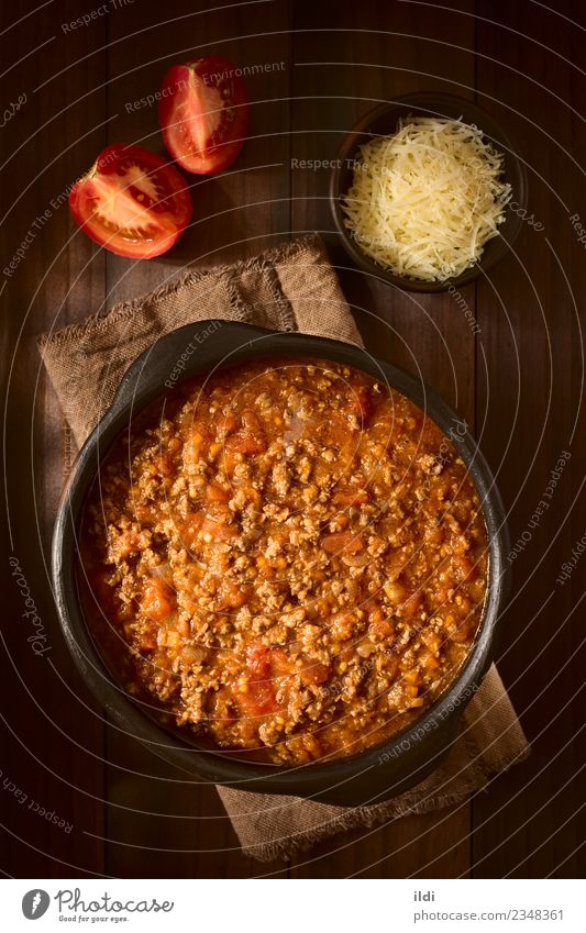 Homemade Bolognese Sauce Dish Fresh Ground European Meat Top Tomato Vertical Rustic Ingredients Italian Italian Food Beef