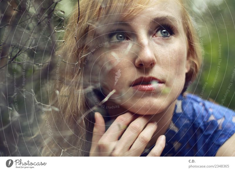 Nature Youth (Young adults) Young woman Blue Beautiful Green Hand 18 - 30 years Face Adults Natural Feminine Think Bright Blonde Esthetic