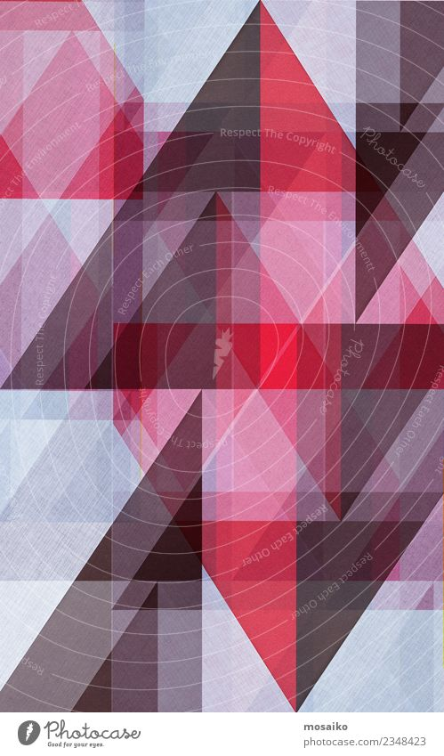 Triangles _ brown and red Elegant Style Design Art Paper Esthetic Contentment Colour Symmetry Stability Point Structures and shapes Red Brown White Geometry