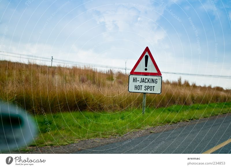 Good to know Traffic infrastructure Motoring Street Signs and labeling Driving Threat South Africa Colour photo Multicoloured Exterior shot Day Warning label