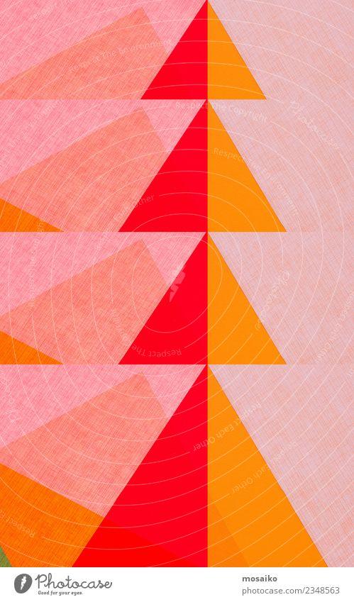 Geometric shapes - triangles - red and orange Lifestyle Elegant Style Design Joy Parenting Education Art Paper Esthetic Contentment Stress Bizarre Colour Idea