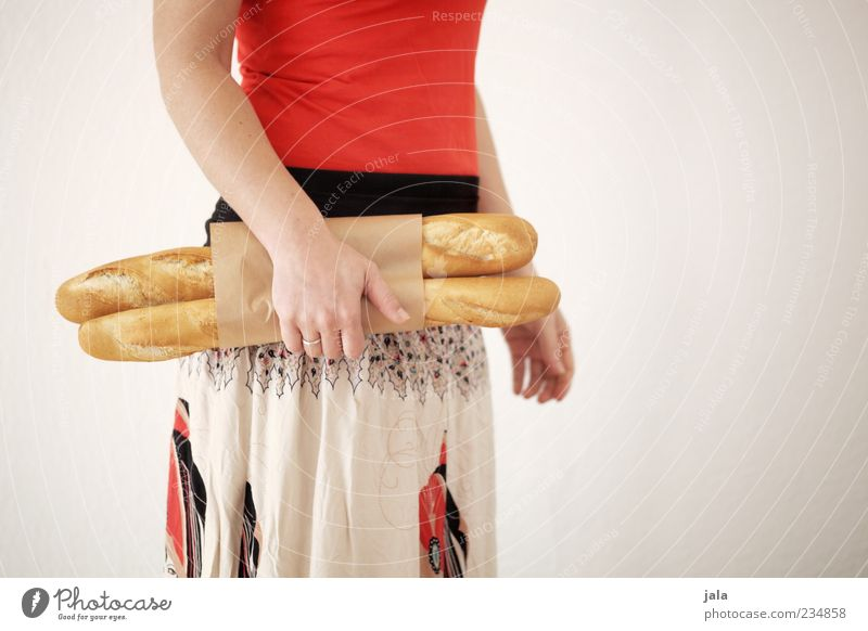 Human being Woman Hand Adults Nutrition Feminine Food Arm Stand Shopping T-shirt To hold on Skirt Breakfast Bread Organic produce