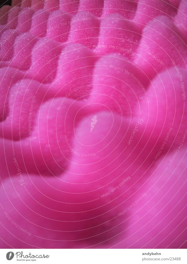 Pink Sweet Obscure Delicious Material Packaging Bolster Foam rubber