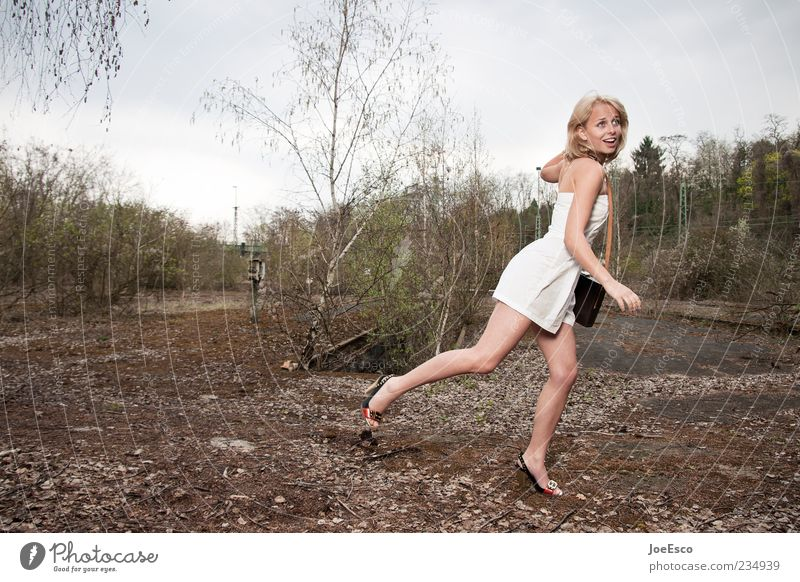 Human being Woman Nature Youth (Young adults) Beautiful Adults Life Feminine Freedom Fashion Blonde Fear Elegant Walking Natural Running