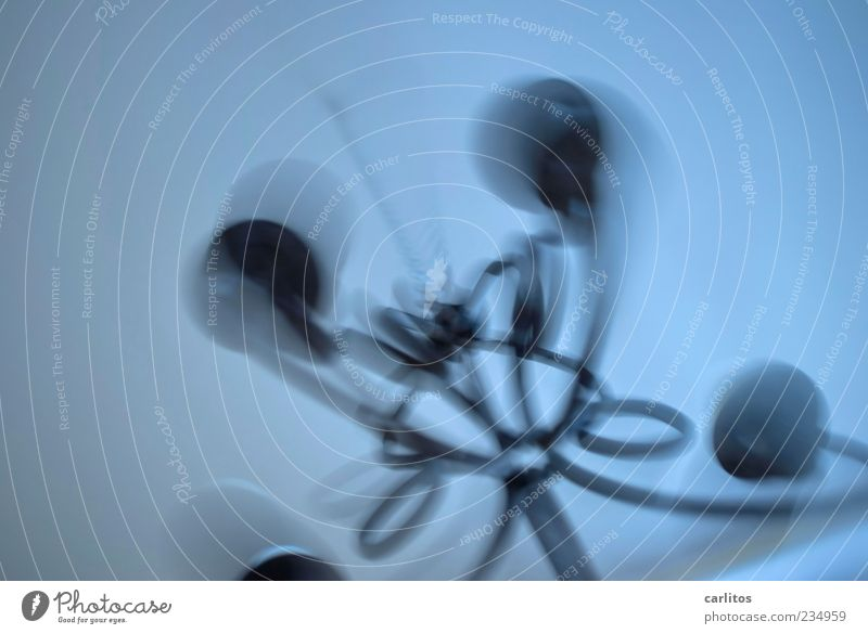 Blue Dark Movement Gray Time Background picture Fear Decoration Threat Transience Mysterious Rotate Hang Chain Copy Space Ceiling