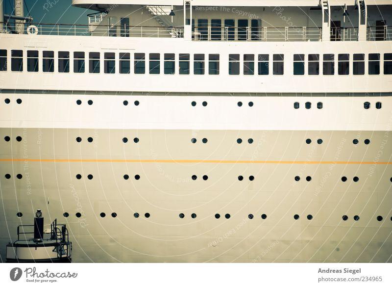 Window Metal Watercraft Arrangement Large Transport Navigation Means of transport Cruise Gigantic Deck Opening Railing Cruise liner Porthole Passenger ship