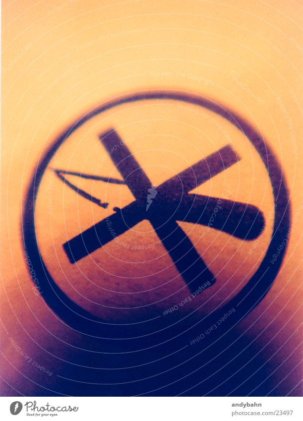 Industry Sign Bans Knives Cut Packaging Haircut Pictogram Pierce Icon