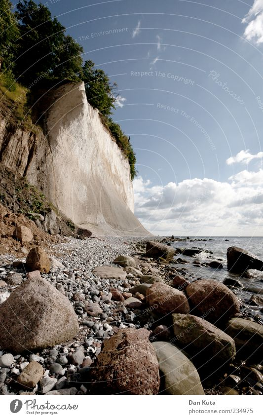 Sky Nature Water Ocean Summer Beach Clouds Landscape Coast Stone Horizon Island Beautiful weather Baltic Sea Bay Rügen