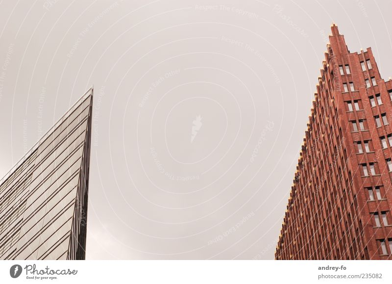 peak House (Residential Structure) Capital city High-rise Bank building Building Architecture Facade Window Potsdamer Platz Stone Glass Sharp-edged Modern Brown